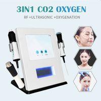 مصنع توريد CO2 الأكسجين فقاعة 3 في 1 الأكسجين جت قشر co2 الأوكسجين RF الوجه رسالة آلة للعناية بالبشرة الجمال آلة الحمل