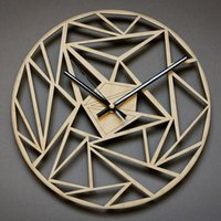 Wall Clocks 3D Hanging 12Inch Nordic Wooden Modern Design Silent Creative Watches Wood Home Decor Unique Design