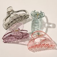 Large Hair Claw Clip Women Girls High Quality Transparent Plastic Crab Clamps Barrette Hairpins Makeup Accessories