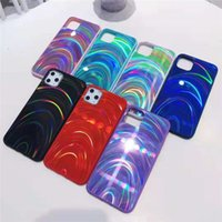 Cajas de teléfono de patrón de arco iris TPU + PC + Funda de telefonía móvil de acrílico para iPhone 13 12 Mini 11 Pro MAX X XS XR 7 8 PLUS SAMSUND S20 S20FE S21 S21ULTRA A72 DHL