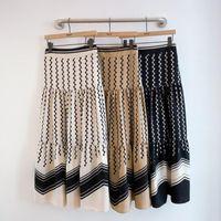 Skirts Skirt Stitching Retro Polka Dot Print Wave Pattern High Waist Mid-length Cake Fashion Pleated