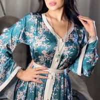 Ethnic Clothing Eid Mubarak Muslim Women Abaya Dress Kimono Dubai Malaysia Turkish African Print Boubou Ladies Caftan Marocain Robe Djellaba