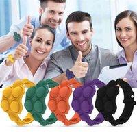 Push Bubble Pop Fidget Bracelets Toys Puzzle Decompression Finger Music Silicone Bracelet Toy Sensory Ring Pressing Ball Wristband Watch H42605