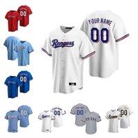 Пользовательские изделия из бейсбола мужчины женщины дети молодости Texas Joey Gallo Authentic Roujoed Shin-Soo Choo Elvis Andrus Ronald Guzman Adrian Alexis Rangers