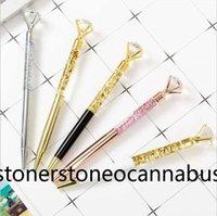 Metal big diamond pen fashion scepter metal crystal oil ballpoint creative stationery spot wholesale sgh
