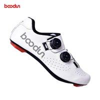 Ciclismo Calzado Boodun Reflective Hombre Road MTB Zapatos de fibra de carbono Suela Ultraligmo Auto-bloqueo Triatlón