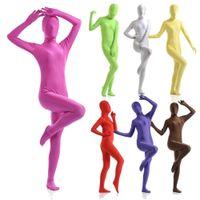 Повседневные платья женские все включены колготки Lycra Zentai сплошной цветной сценический костюм косплеи