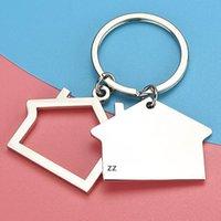 الإبداعية منزل شكل سلاسل المفاتيح المعدنية أقراط المنزل تصميم سيارة مفتاح سلسلة مفتاح الأزياء الإكسسوارات قلادة مفتاح حامل HWB11151