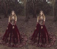 Sparkly Gold Sequined Pizzo Borgogna 2021 Quinceanera Prom Dresses con maniche lunghe staccabili Velvet Princess Sweetheart Charro Sweet 16 Dress Vestidos 15 ANO