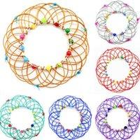 Fidget Magic Mandala Blower Basket Toys Modifiche multiple Cambiamento anello flusso Handmade Iron Loop Filo Bambini Adulto Stress Stress Reliever Finger Fun Gioco Giochi Regali H33MDRX
