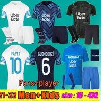 Olympique de Marseille Soccer Jersey 2021 2022 Om Maillot Foot Payet Thauvin Benedetto Jerseys 21 22 Ünder Kamara Milik Men + Kids Kit Footbal Shirts