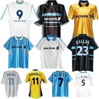 1998 1999 2000 Olympique de Marsella Retro Jersey de fútbol 98 99 PIRES MAURICE BLANCA RAVANELLI DE LA PENA GALLAS CLÁSICA Vintage Camisa de fútbol