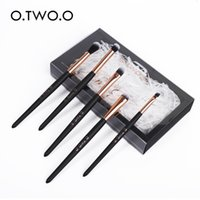 Makeup Brushes O.TWO.O 5pcs set For Soft Synthetic Hair Wooden Handle Eyeshadow Brush With Gift Box Cosmetics Kit