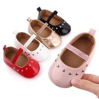 Zapatos de bebé Nacidos Niña Primer Walker PU Sofe Sole Princess Toddler Crib Walkers Bebes Mocasines