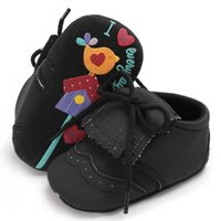 First Walkers Baby Infant Shoes Girls Boys Tassel Crib Personality Doodle Born Toddler Walker Sole Anti-Slip For 0-18M Babies BTTF