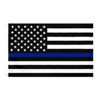 3x5fts 90cmx150cm policiais de aplicação da lei americana polícia americana fina linha azul bandeira Blueline EUA policy bandeiras cyz3096