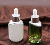 30ml weiße grüne Glas-Dropper-Flasche leerer Parfüm-Probenrohre ätherisches Ölreagenz nachfüllbare Flasche FWA4637