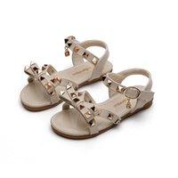 الصنادل أطفال أحذية الفتيات الأطفال الفتيات الصيف اللؤلؤ الأطفال الأحذية الأميرة B5807
