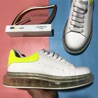 Top Qualität Desinger Schuhe Mode Herren Frauen Schuhleder Lace Up Platform Übergroße Sohle Sneakers Weiße schwarze lässige Trainer mit Box