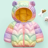 Down Coat Arrival Baby Girls Jacket Autumn Colorful Winter Boy Clothes Born Coats For Kids Cotton With Ear Hooded 0-5y