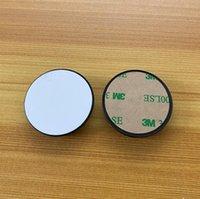 Soporte de teléfono celular del círculo de la sublimación de 20pcs con el inserto de sublimación de aluminio en blanco de la ranura para el soporte personalizado personalizado del soporte del teléfono