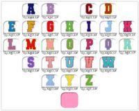 Полотенце вышивка мультфильм красочные буквы Chenille Patch Fabric Custom Seven на радуги цветов Письмо стикер лоскутное одеяло я люблю тебя GWD7269