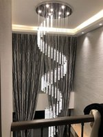 Long Spiral Staircase Chandelier Light For High Ceiling Chandeliers Pendant Living Room Entryway LED Hanging Lamp Hall Stairs