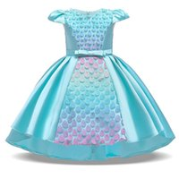 Girl's Dresses 2021 Summer Flower Scales Kids For Girls Children's Clothing Party And Wedding Dress Baby Girl Princess 3-10 Year