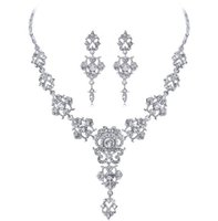 New Bridal Wedding Jewelry Set necklace earrings fashion European American Wedding Accessories wholesales China DFF4296