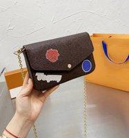 Borsa della catena della catena di stampa della borsa del progettista della borsa della borsa della borsa della signora della signora con il portafoglio di Charme WF2104071