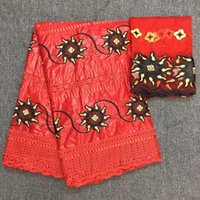 Beautiful Bazin Riche Fabric Brocade High Quality African Fabrics Getzner Embroidered For Dress