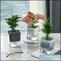 Vases Décor & Gardencreative Matic Self Watering Flower Plants Pot Hydroponic Potted Put In Floor Irrigation For Garden Indoor Home Decorati
