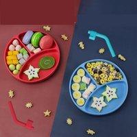 Schüsseln Baby Tray Saugnapf 3-Fach Große Kapazität Anti Drop Bowl Kinder Zusatzgeschirr
