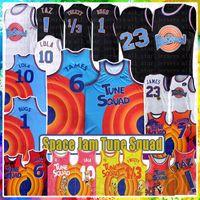 Lebron Movie Space Jam Tune Squad 2 6 James Basketball Jersey 23 1 Hatalar 22 Bill Murray 10 Lola D.Duck! TAZ 1/3 Tweety 7 R.Runner 2021 Gençlik Mens Mavi Formalar