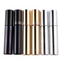 10ml UV 도금 분무기 미니 리필 할 수있는 휴대용 향수 병 스프레이 병 샘플 빈 용기 골드 실버 블랙 컬러 DHD3168 W8F7