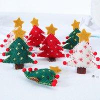NewChristmas Árvore DIY Pequeno Pingente Creative Wool Felt Christmas Handicrafts Christmas Grinalda Bouquet Holiday Presentes EWB8028
