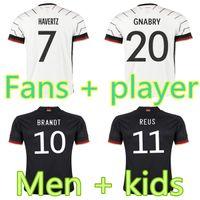 Deutschland Fußball Jersey 20 2021 Fans Spielerversion Hummels Kroos Gnabry Werner Draxler REUS Muller Gotse European Cup Football Hemd Uniformen Männer + Kids Kit