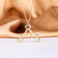 Earrings & Necklace 2021 Feb Dolphin Double Ring Jewelry Set 585 Rose Gold Women Romantic Fashion Copper