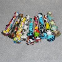 Funzione del tubo del fumo Collettore del nettare Tubi di manuale del silicone per olio contro bollenti di vetro con unghie e coperchio in titanio