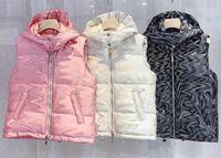 Модный мужской Даун Жилет Parkas с Письмами Зимний дизайнер Жилет для мужчин Женщины Мода Знак Куртки Повседневные Жилеты Пальто Multi Styles