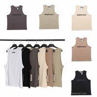 fear of god fog essentials essential vest off Men's T short Tank Tops sleeveless Stylish mesh fabric breathable logo print sport shorts