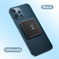 Taşınabilir Mini 5000 mah Manyetik PD Kablosuz Güç Bankası Cep Telefonu için Powerbank Extenal Pil Iphone12 Pro Max 4 Renkler