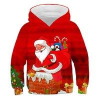 Men's Hoodies & Sweatshirts Christmas Kid's Clothes Boys Santa Claus 3D Print Children's Clothing Girls Festival Pullover Baby Anime Top