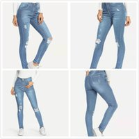 Women's High Waisted Butt Lift Stretch Ripped Skinny Jeans Juniors Girls Distressed Denim Pants