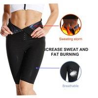 Gym Short Women Body Fat Burning Sweat Shaper High Waist Workout Tights Pants Shapewear Effect Slimming Sports Pant Clothing