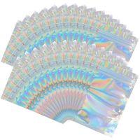 Сумки для хранения 100 штук Mylar Hologrography Resealable - 3.3 x 5.1, запаха