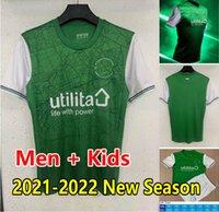 2021 2022 Hibernian FC Jerseys de futebol em casa DoiGer Boyle Nisbet Magennis Homens Kits Kits de Futebol Camisas Hanlon McGinn Newell Hallberg Gullan Wright Maillots de Futol