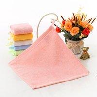 Kindergarten cara toalla cuadrada limpiando manos liso bambú fibra pequeña limpieza toallas de mano 25 * 25 cm NHE5984