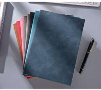 Notebooks Engrossado Business Blocos de Notas Personalizado Mão Student Student Student Escrita Caderno PU Página de couro Colorido Gyl84