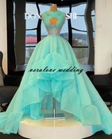 Elegant Prom Dresses Halter Neck High Low Evening Vestidos A-line Long Formal Second Occasion Party Gowns